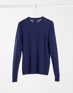 ASOS DESIGN - pakke med 2 trøjer i bomuld med rund hals i grå og marineblå GEM-Multifarvet