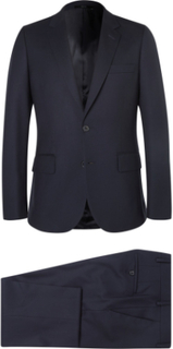Navy A Suit To Travel In Soho Slim-fit Wool Suit - Navy