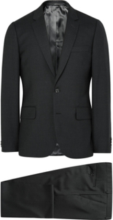 Grey A Suit To Travel In Soho Slim-fit Wool Suit - Charcoal