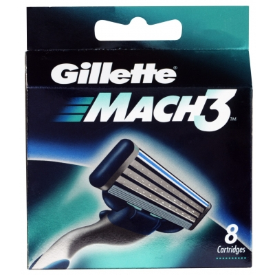 Gillette Mach3 Partaterat 8 kpl
