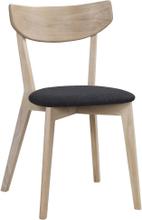 Ami stol Vitpigmenterad/mörkgrå