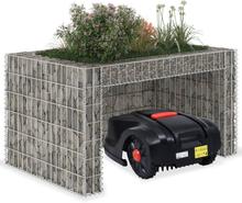 vidaXL garage til plæneklipper med plantekasse stålwire 110x80x60 cm