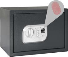 vidaXL digitalt pengeskab med fingeraftryk 35x25x25 cm mørkegrå
