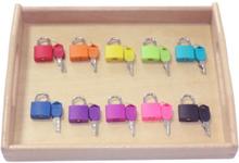 Wooden Tray Locks Set Children Kids Preschool Educational Sensory Toys Materials Baby Boys Girls Intellectual Puzzle Toy