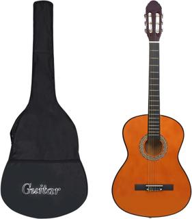 vidaXL klassisk guitar med taske for begyndere 4/4 39