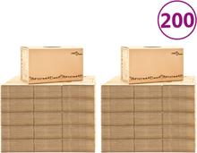 vidaXL flyttekasser 200 stk. XXL 60x33x34 cm pap