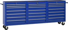 vidaXL værktøjsvogn med 21 skuffer stål blå