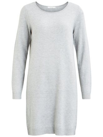 VILA Simple Knitted Dress Women Grey