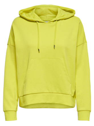 ONLY Solid Sweatshirt Women Yellow