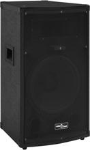 vidaXL prof. passiv hi-fi-scenehøjttaler 1000 W 32x32x64cm sort
