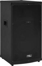 vidaXL prof. passiv hi-fi-scenehøjttalere 43x43x75cm 1200 W sort