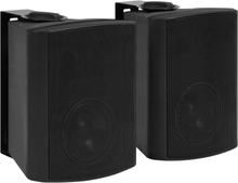 vidaXL Vegghengte stereohøyttalere 2 stk svart innendørs utendørs 100W