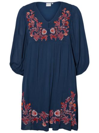 JUNAROSE Embroidered Dress Women Blue