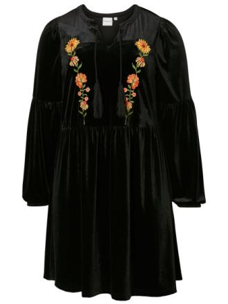 JUNAROSE Velvet Dress Women Black