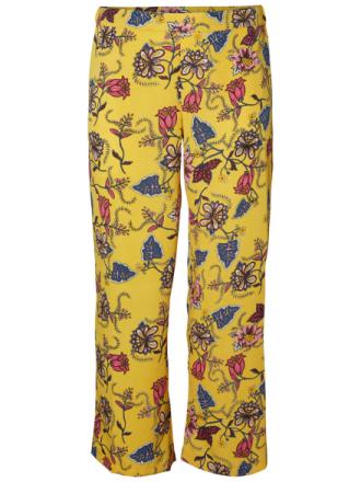 JUNAROSE Flower Printed Trousers Women Yellow