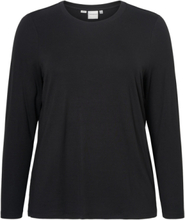 JUNAROSE Jersey Long Sleeved Blouse Women Black