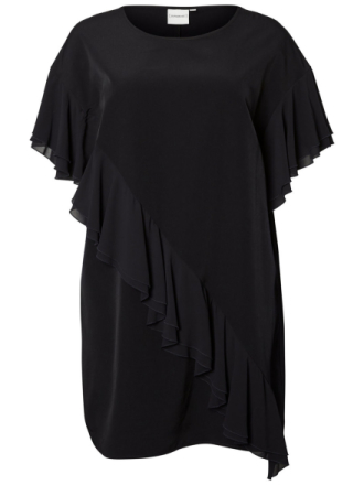 JUNAROSE Ruffle Dress Women Black