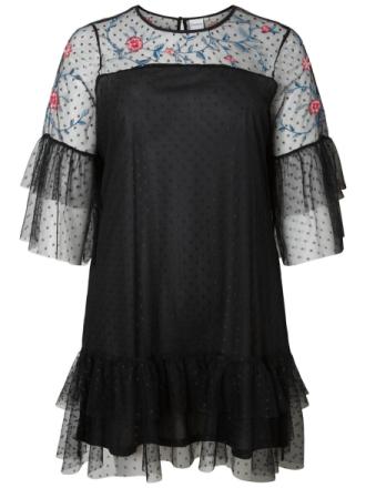 JUNAROSE Mesh Dress Women Black