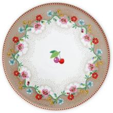 Mini Tårtfat 21 cm Cherry khaki