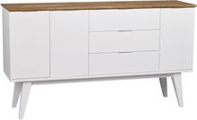Filippa sideboard Vit/ek 150 x 40 cm