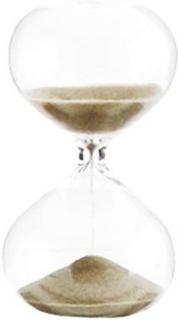 Madam Stoltz Timeglass Ø 5,5 cm - Lysebrun