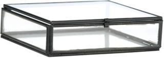 Madam Stoltz Kvadratisk skrin 10,5x10,5x3,5 cm - Svart