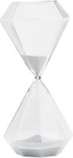 Madam Stoltz Timeglass Ø 13 cm - Sølv