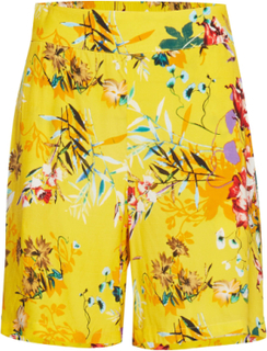 Dhalicia Shorts All Over Printed Shorts Flowy Shorts/Casual Shorts Gul DENIM HUNTER