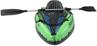 Intex oppustelig kajak - Challenger K1 1-personers kajak med åre, pumpe, net, gribeline og taske