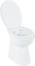 Toalett myk lukkemekanisme 7 cm keramisk hvit
