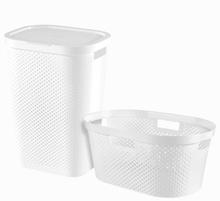 Curver Infinity Tvättkorg med korg 2 delar 40L+60L vit