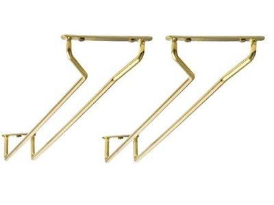 Glashängare i mässing för upphängning 30 cm, 2-pack