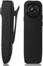 Mini-kamera Med Klämma 1080p Hd, Svart