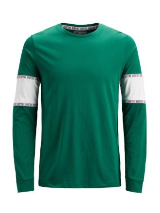 JACK & JONES Color Block T-shirt Men Green