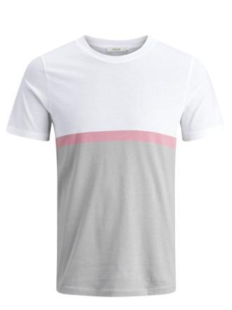 JACK & JONES Colour Block T-shirt Men White