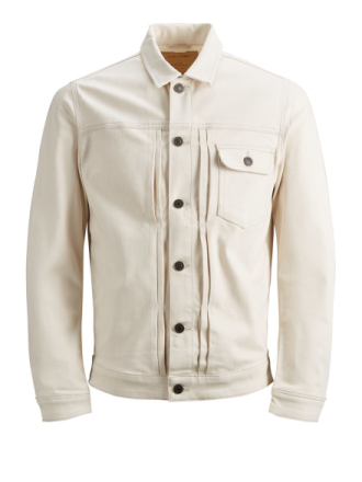 JACK & JONES Jack Jacket Jos 790 Denim Jacket Men White