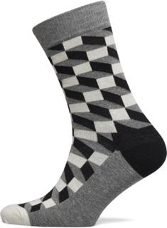 Filled Optic Sock Underwear Socks Regular Socks Grå Happy Socks