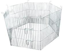 FLAMINGO udendørs kaninbur 60x60 cm sekskantet