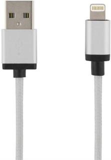 DELTACO PRIME USB - Lightning-kabel, MFi, 2m Silver