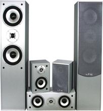 5.0 home cinema sound system, silver