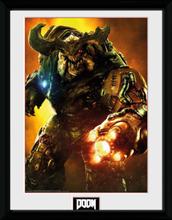 Doom - Cyber Demon - Inramad bild - multicolor