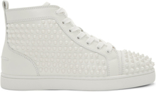Christian Louboutin White Louis Spikes High-Top Sneakers