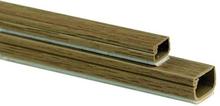 Plasfix 2406-3G Kabelkanal selvheftende, med lokk, 2 m 12 x 7 mm, eikefarget