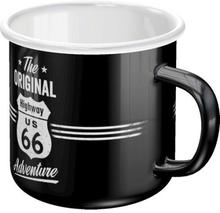 Emaljmugg Retro 'The Original Highway 66'