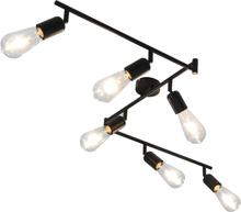 vidaXL Spotlight med 6 st glödlampor 2 W svart 30 cm E27