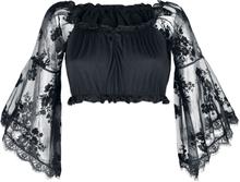 Ocultica - Gothic-Top -Bluse - svart
