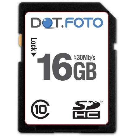 Dot.Foto 16Gb SDHC UHS-1 klasse 10 (30MB/s) kort for Olympus D kame...