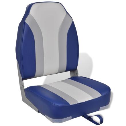 vidaXL Sammenleggbar båtstol høy ryggstøtte
