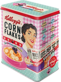 Plåtburk Flingor 'Kellogg's Corn Flakes Happy Hostess'