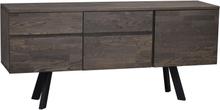 Fred sideboard Mörkbrun/svart 170 x 42 cm